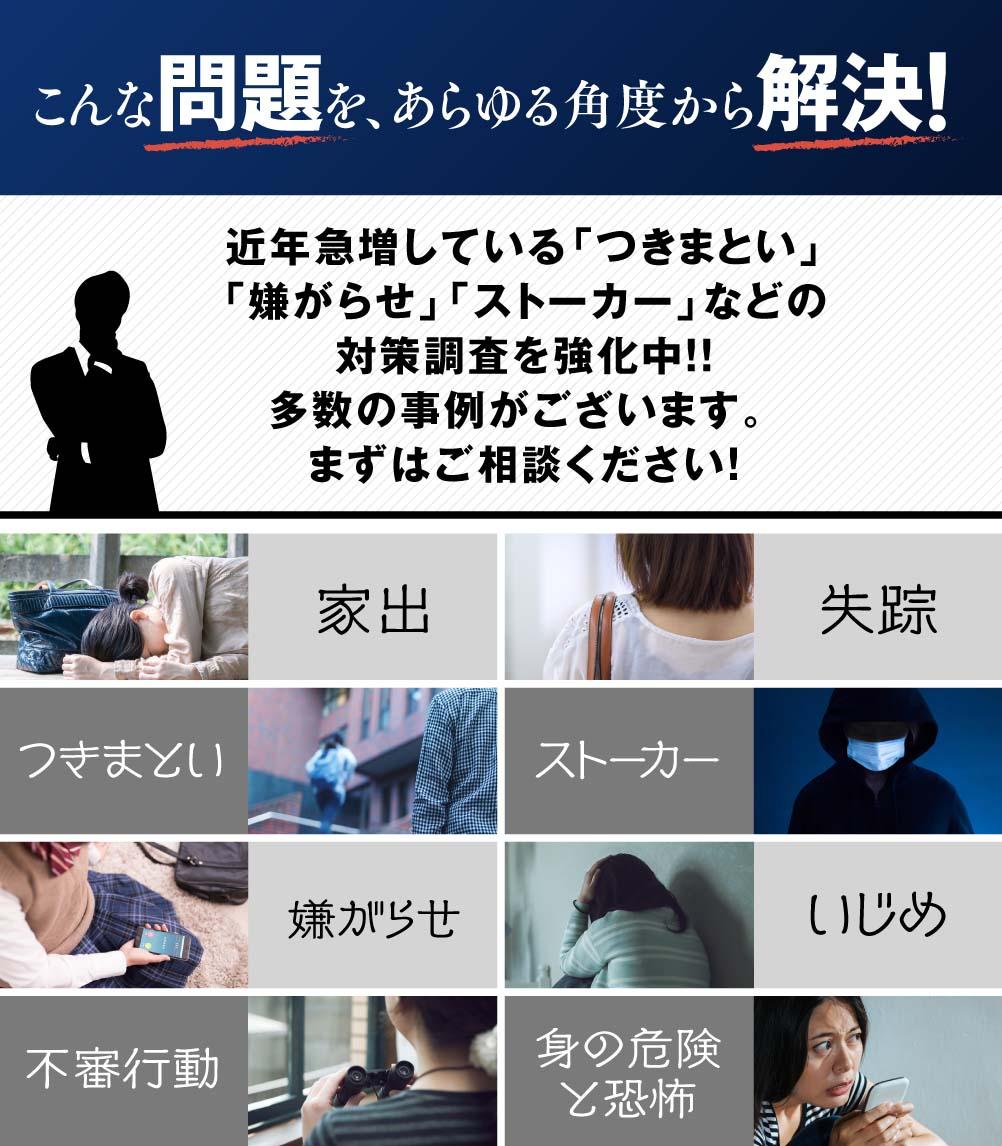 名古屋駅の当探偵社では問題をあらゆる角度から解決!