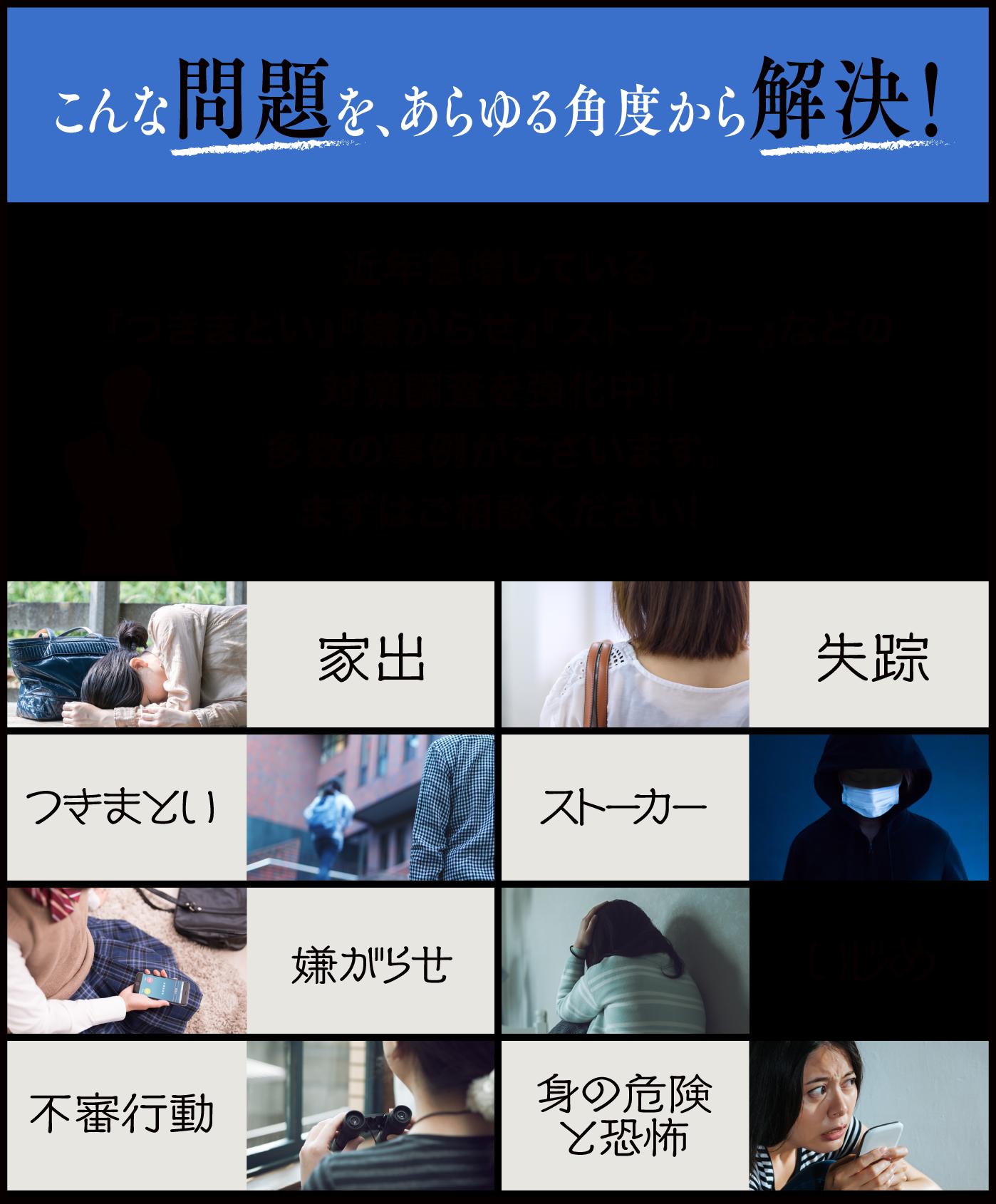 日本探偵社名古屋本部の問題解決